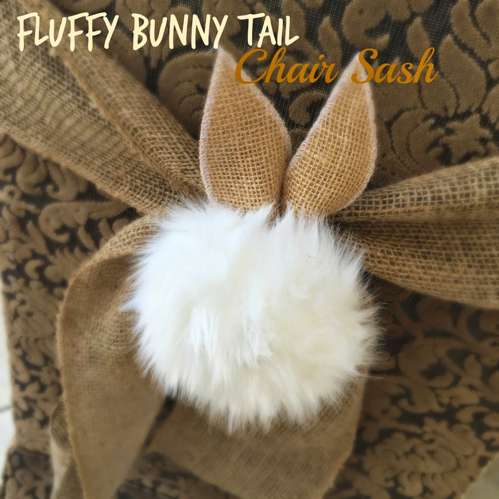 ruffle chair sashes outdoor swing chairs fluffy bunny tail sash tutorial | purple chocolat home bloglovin'