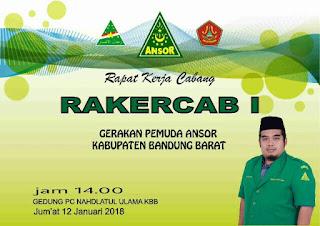 Rakercab Ansor NU Bandung Barat (KBB)