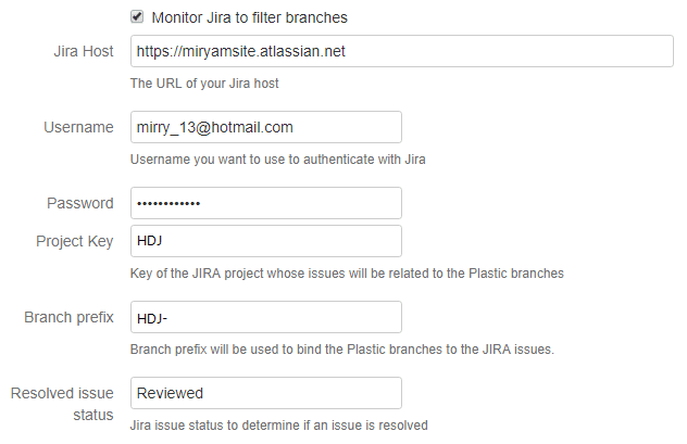 Filter branches with Jira status