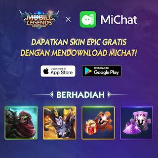 Cara Mendapatkan Skin Epic Mobile Legends Gratis dengan Download Michat