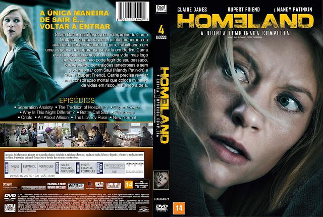 Capa DVD Homeland A Quinta Temporada Completa [Custom]