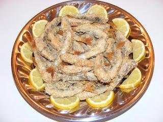 mancaruri cu peste sardina la cuptor cu pesmet si susan,