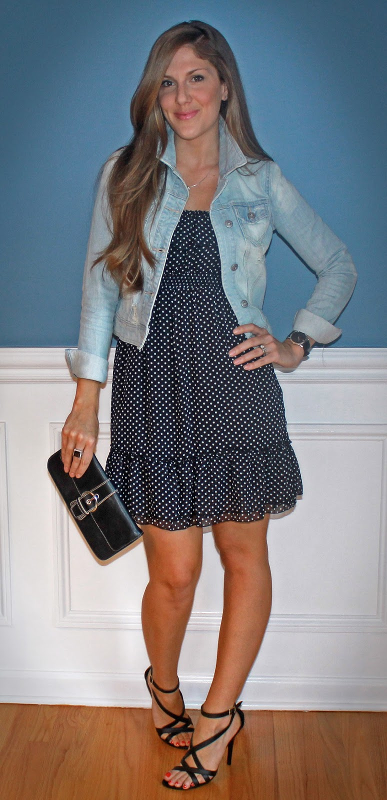 b22f214b22e3c Outfitted411: Denim and Dots...