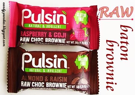 Raw batony brownie Migdały&Rodzynki / Malina&Goji - Pulsin