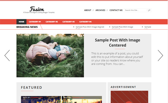 Fusion-responsive-blogger-template