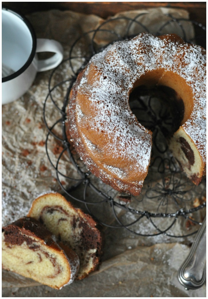 Gluten free marble cake, the perfect cake to celebrate Mondays!