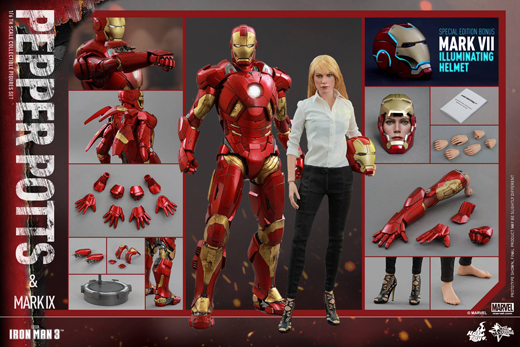 AMarvel Pepper Potts and Mark IX Sixth Scale Figure Set