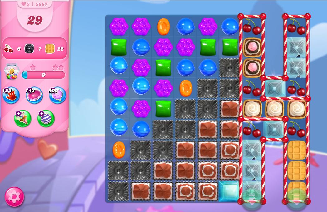 Candy Crush Saga level 5887