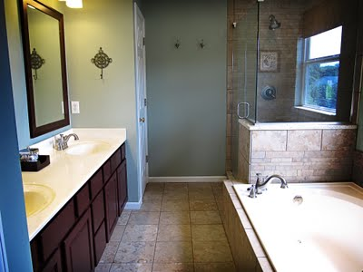 Remodelaholic master bathroom before after and for Youtube bathroom remodel
