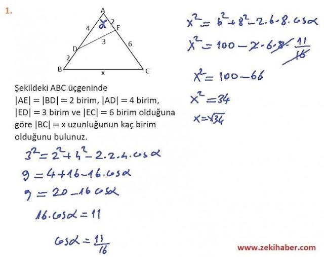 11. Sınıf MEB Yayınları Matematik 49. Sayfa Cevapları