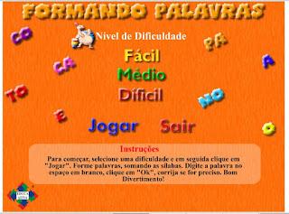 http://www.jogosdaescola.com.br/play/index.php/escrita/440-formando-palavras