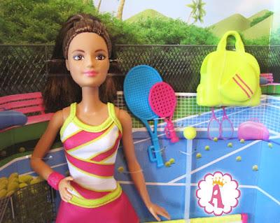 Кукла из набора Барби тренер по большому теннису