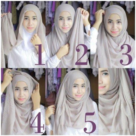 Tutorial Hijab Pashmina Simple Tanpa Ninja Kreasi Terbaru Yang Modis Dan Menarik