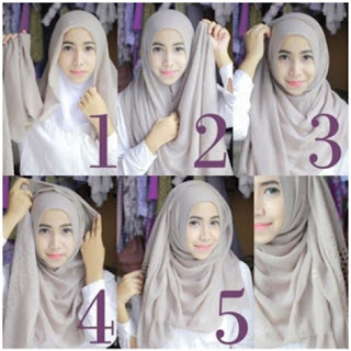 Cara memakai jilbab pashmina modis untuk kuliah