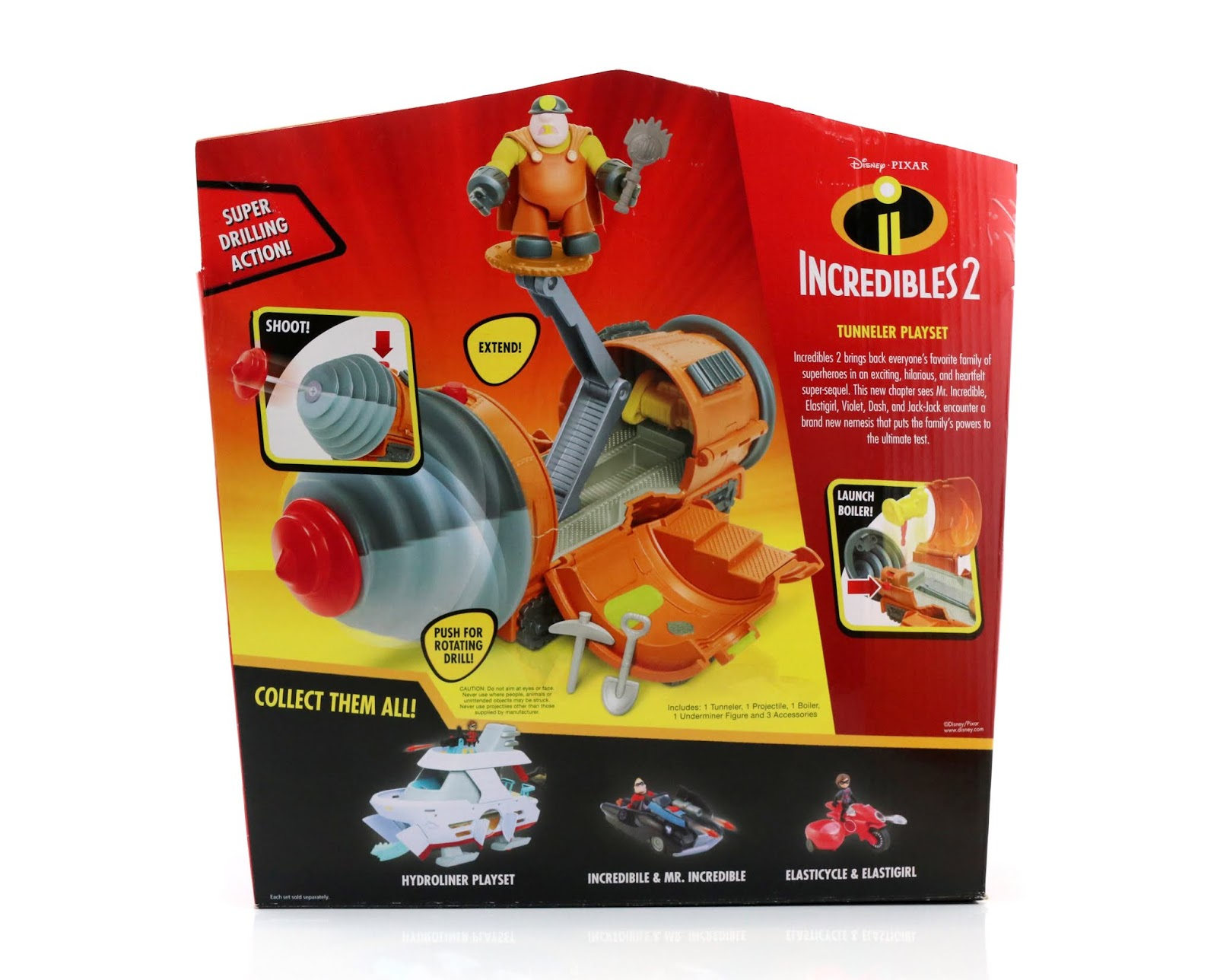 "Incredibles 2 ""Junior Supers"" Tunneler Playset Jakks Pacific"