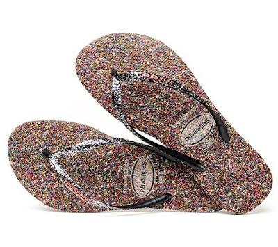 sandálias havaianas carnaval 2019 - estampas de glitter