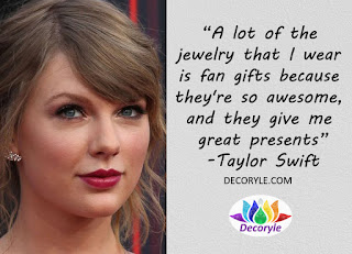 Taylor Swift Jewellery Quote