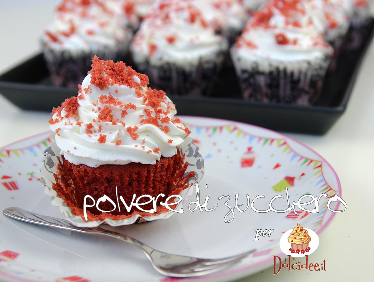 ricetta tutorial cupcake red velvet dolcidee cameo paneangeli polvere di zucchero foto cupcake