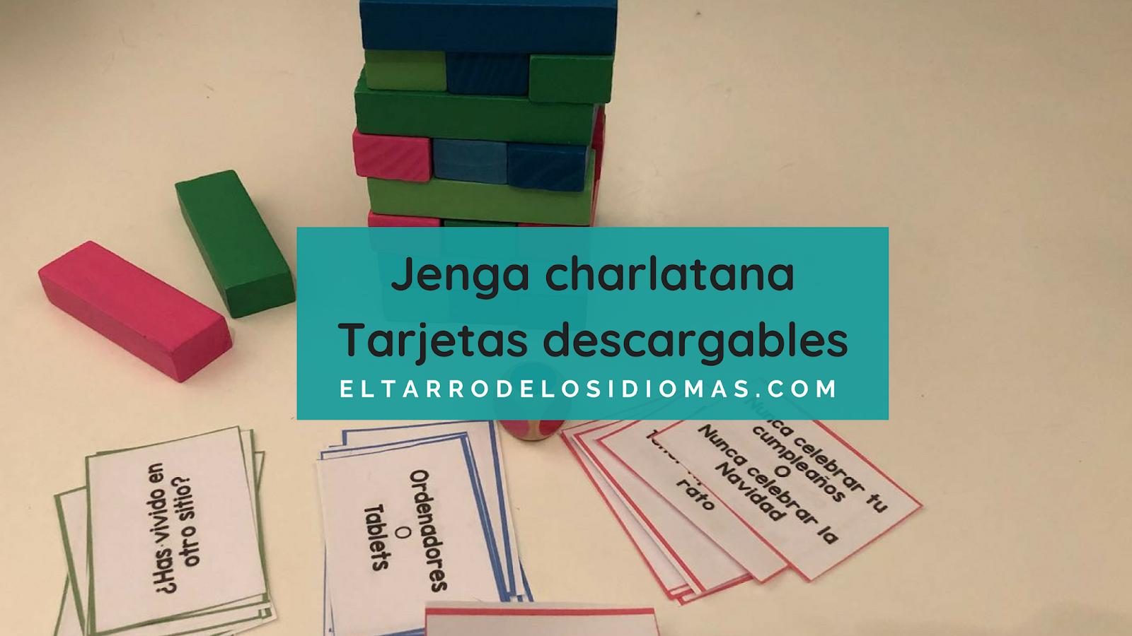Juego Jenga Para Clase Tarjetas Ideas El Tarro De Los Idiomas