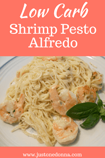 Low Carb Shrimp Pesto Alfredo