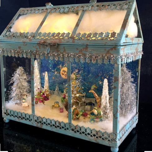 Magical Enchanted Forest Lantern (Blue) Lan3 Laurie Horner Sparkle Deluxe Etsy