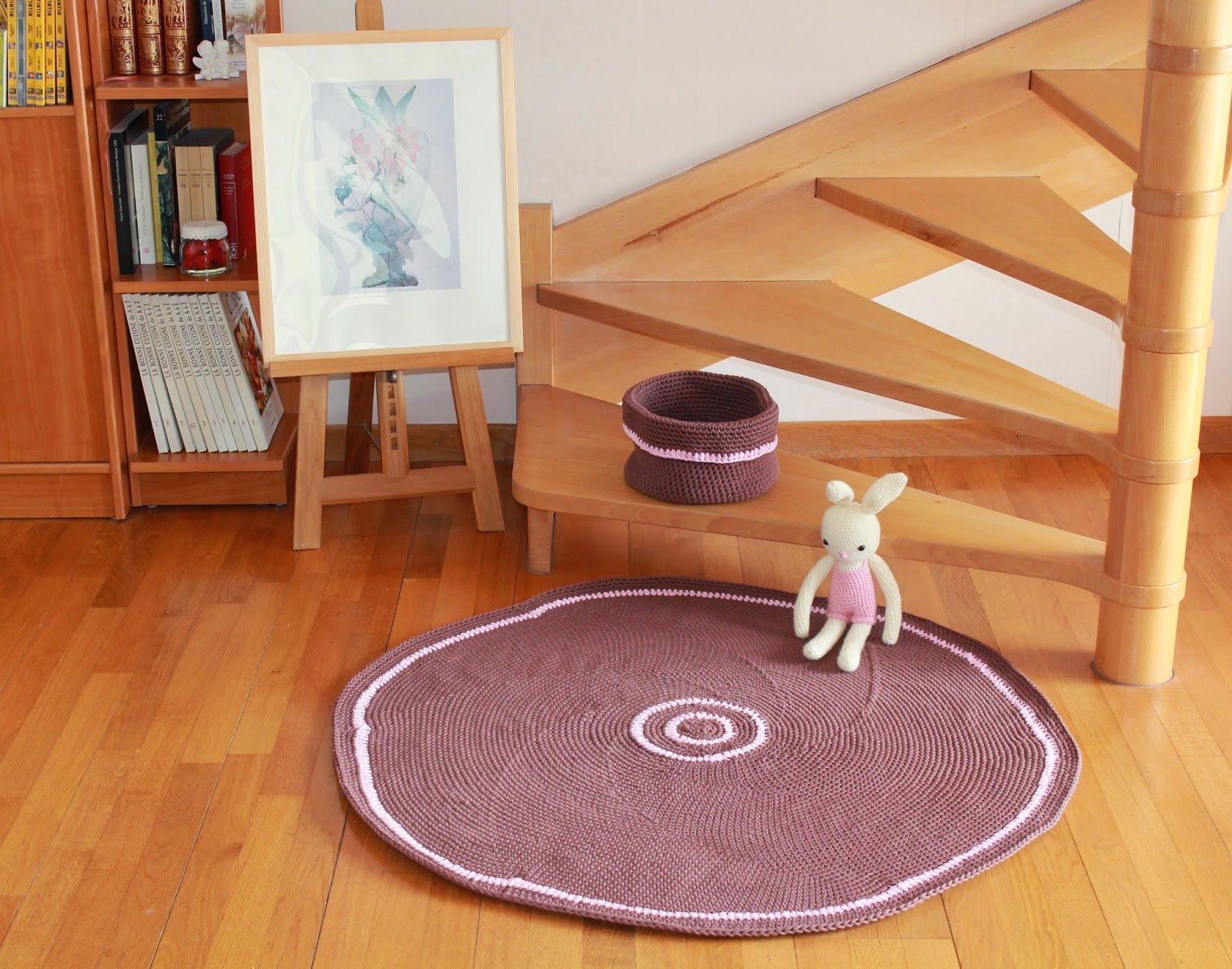 tapis et pani re chocolat. Black Bedroom Furniture Sets. Home Design Ideas