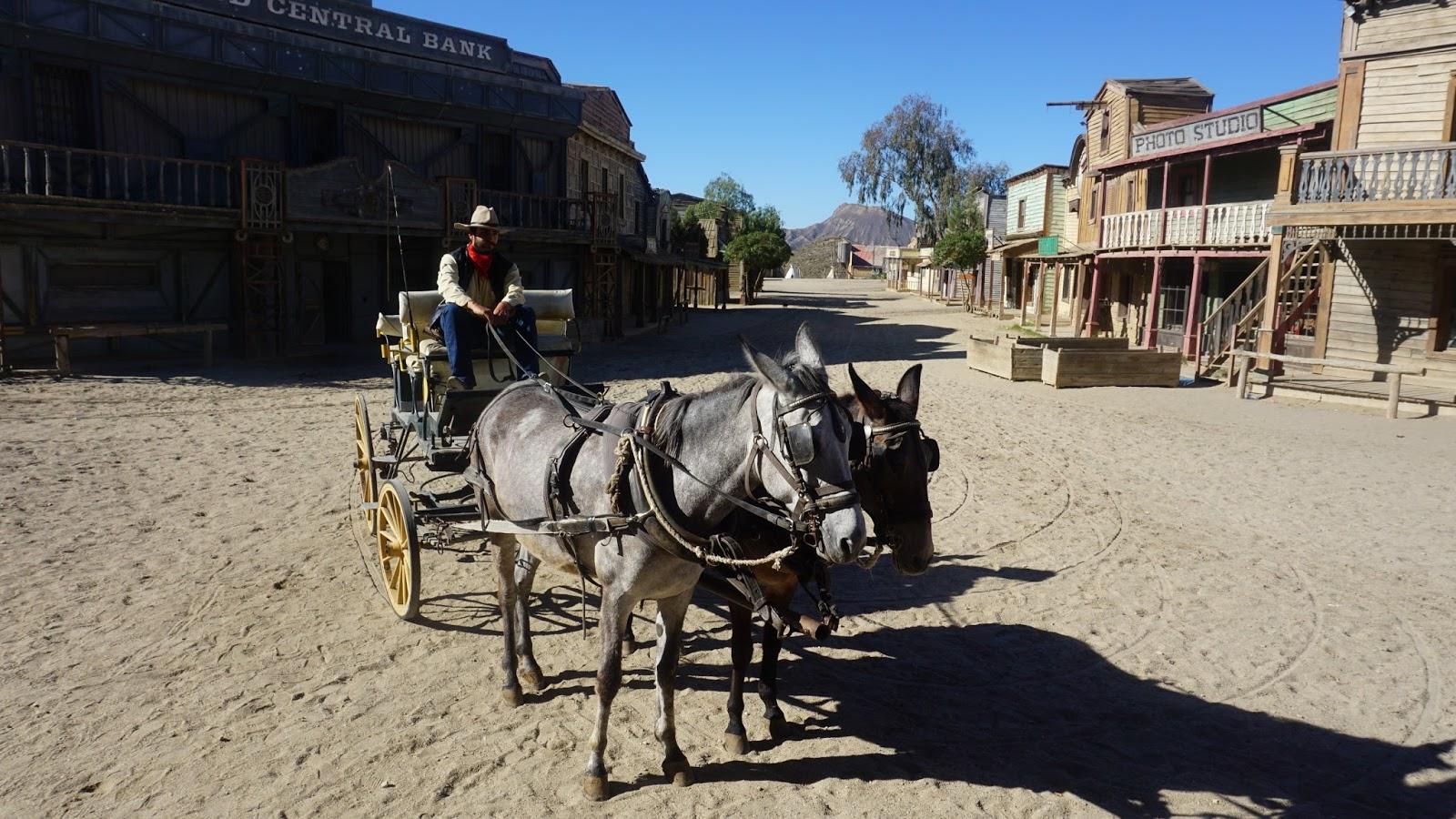 cowboy, kowboj, miasteczko westernowe, dziki zachód, południowa Hiszpania, Hiszpania