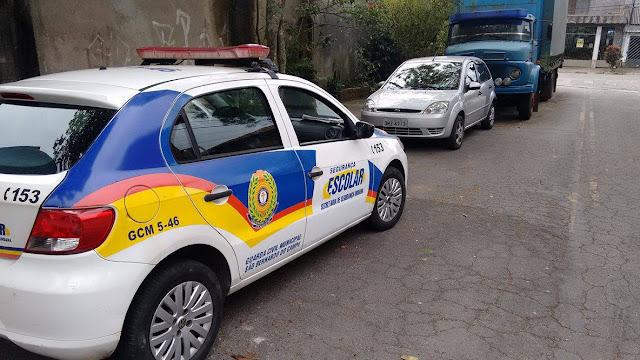 Guardas Civis de São Bernardo do Campo localizam veículo produto de roubo pelo Parque Selecta