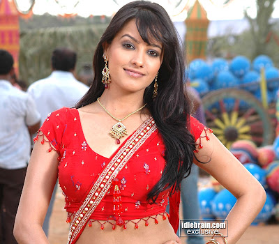 ANITA in red half saree
