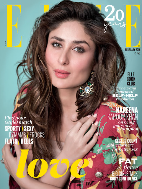 Kareena Kapoor On The Cover Of Elle Magazine February 2016