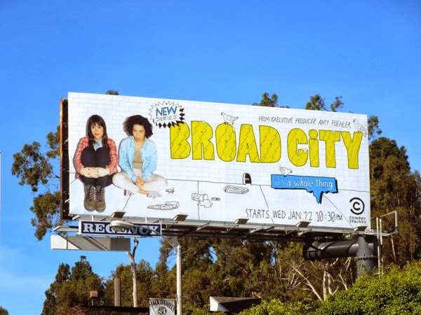 Broad City series premiere billboard