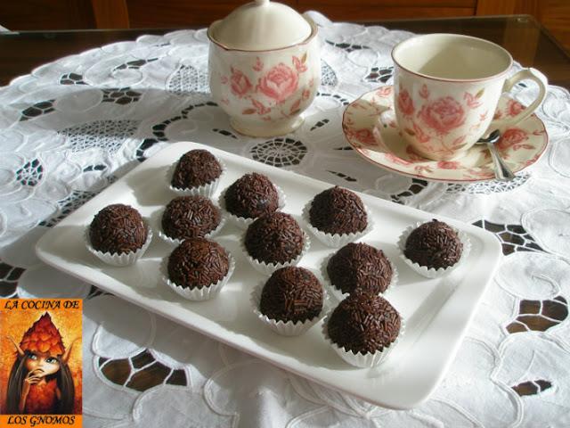 trufas de castaña y chocolate