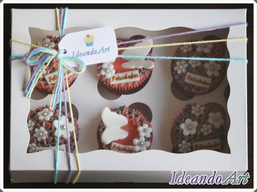 Caja de cupcakes