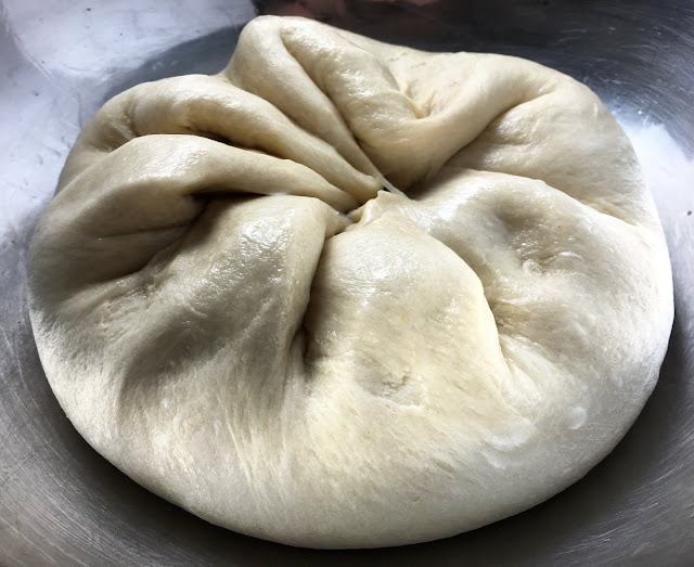 Folded and De-Gased Bun Dough