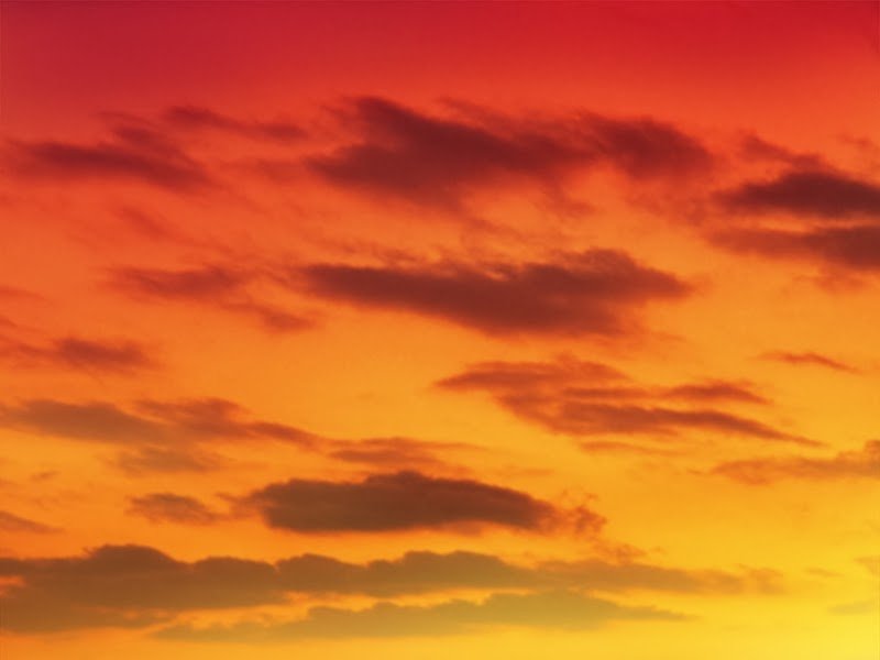 Anime Landscape Orange Red Sky At Sunset Anime Background