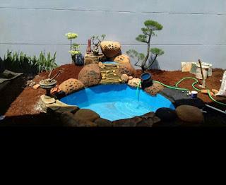 Jasa pembuatan kolam hiasan taman harga murah