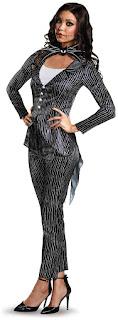 Women's Jack Skellington Female Deluxe Adult Costume for Halloween