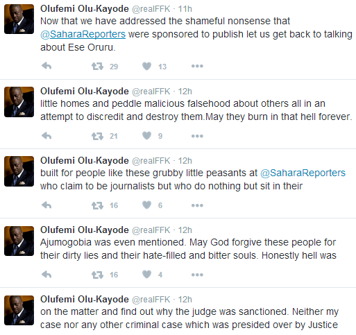 FFK reacts to Sahara Reporters allegation that he bribed Justice Ofili Ajumogobia to quash his money laundering charges