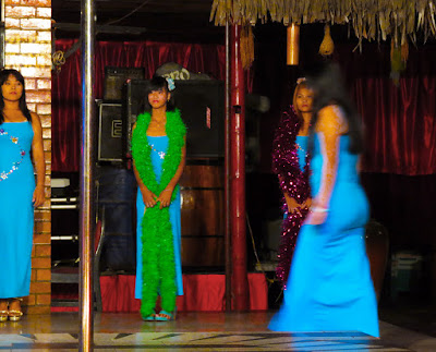 pretty Burmese night ladies in action entertainment