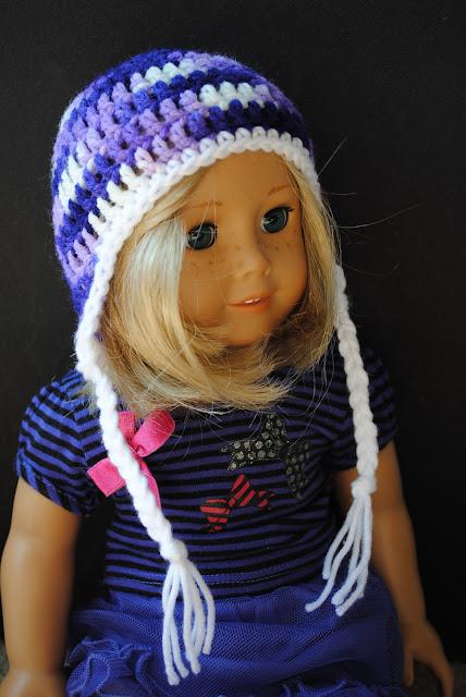 Lyanna Jean Designs Earflap Hat For 18inch Doll Free