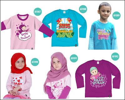 baju anak katun, afrakids kaos anak, baju anak islami