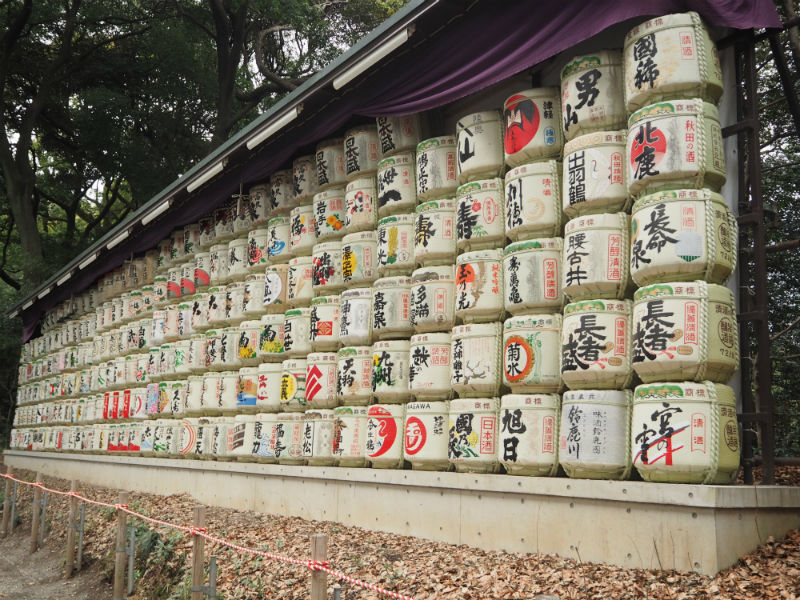 Meiji Shrine Sake Barrels
