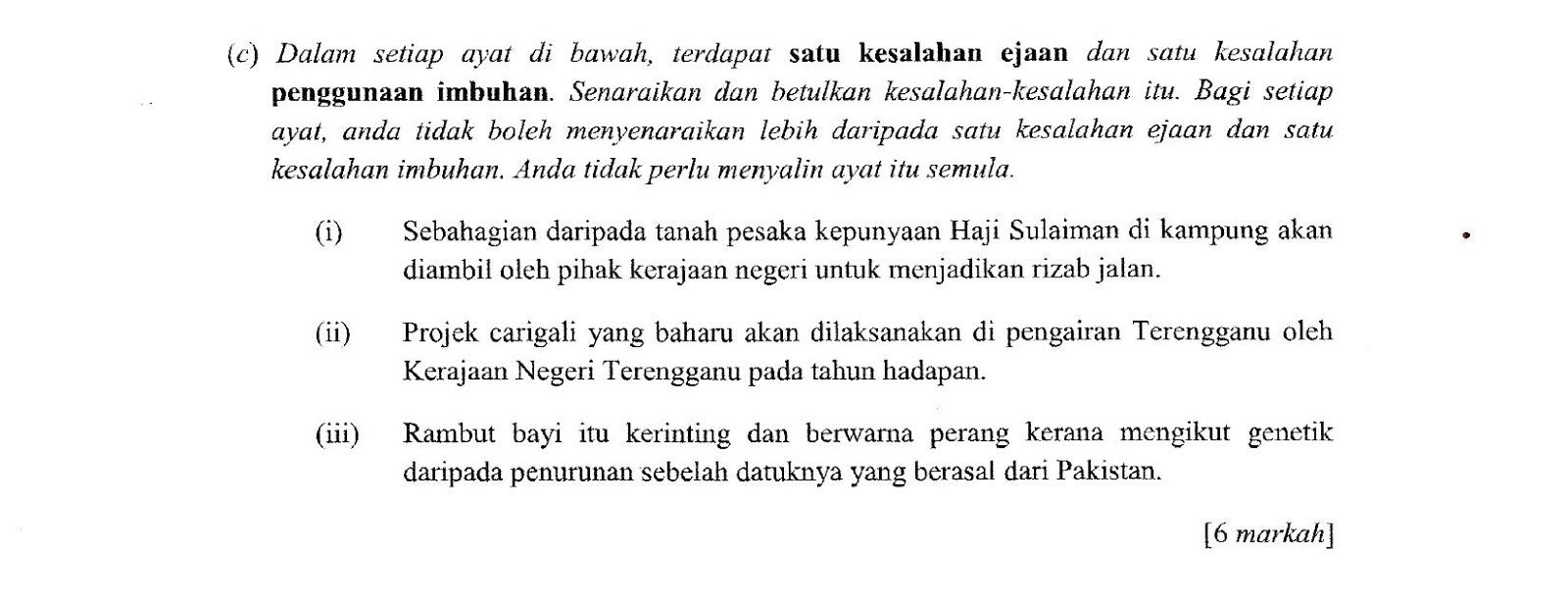 Laman Bahasa Melayu SPM: SOALAN DAN CADANGAN JAWAPAN ...