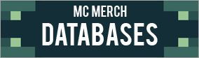 Minecraft Merch Databases