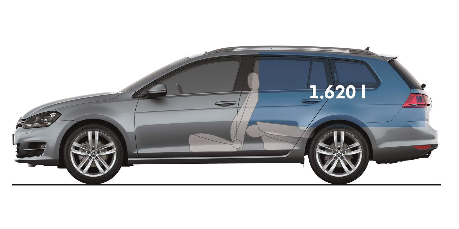 VW Golf 2017 Variant - Porta-malas