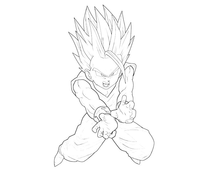 gohan coloring pages 13 pics of gohan super saiyan coloring pages - Super Saiyan Gohan Coloring Pages