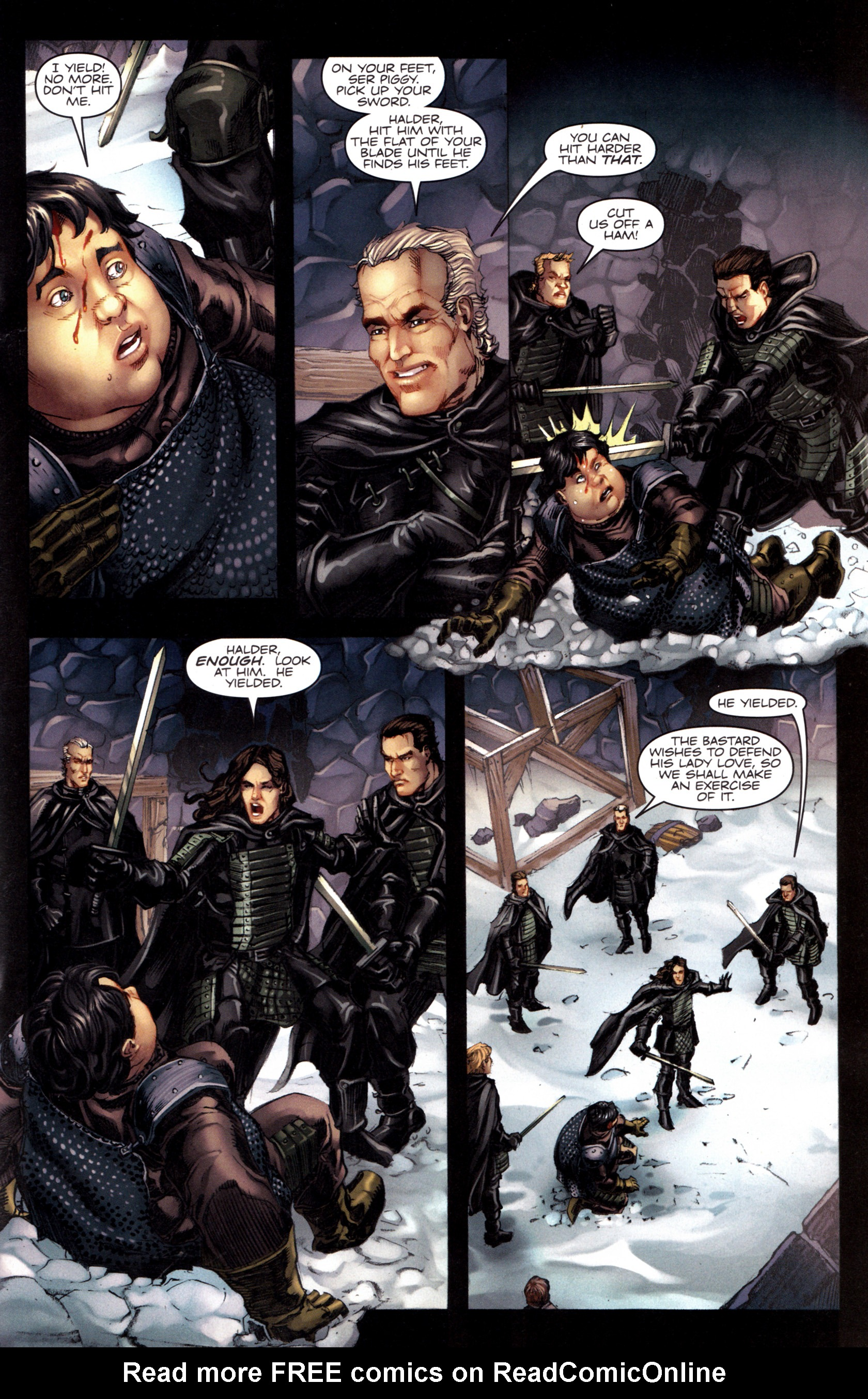 Read online A Game Of Thrones comic -  Issue #8 - 13