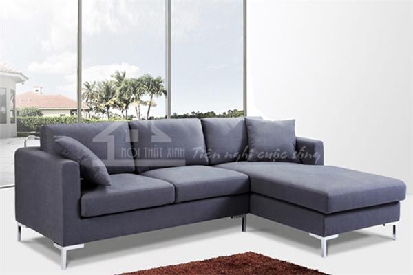 Sofa vải nỉ lì với thiết kế đẹp mắt