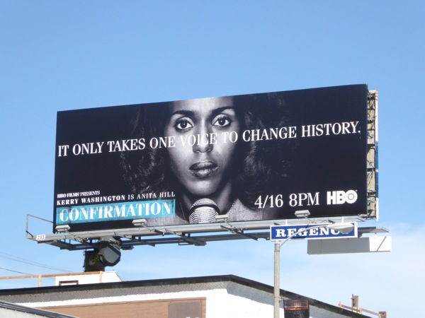 Kerry Washington Confirmation movie billboard