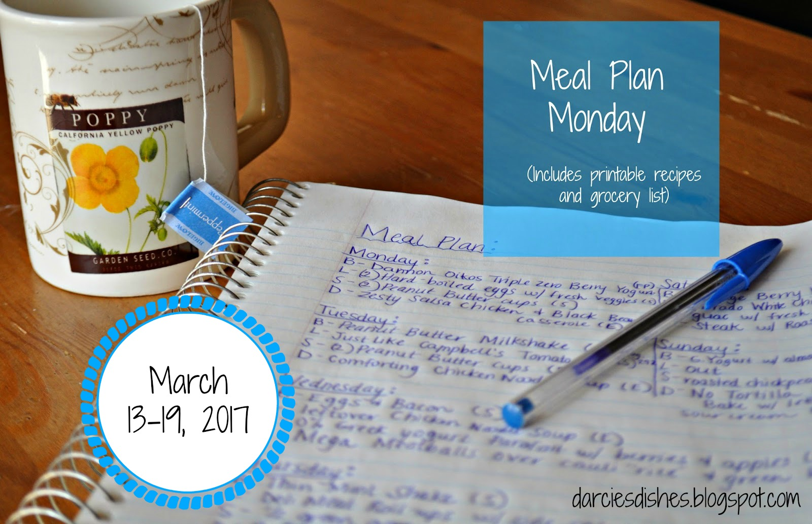 letters to numbers meal plan monday 3 13 3 19 17 darcie s dish 31917